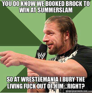 HHH the brilliant strategist always has a plan
