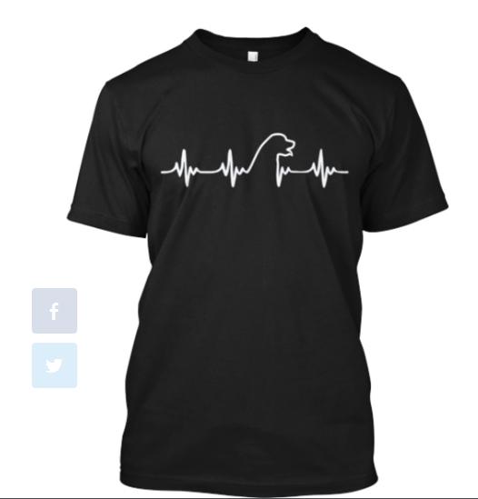 Golden Retriever Heart T-shirt