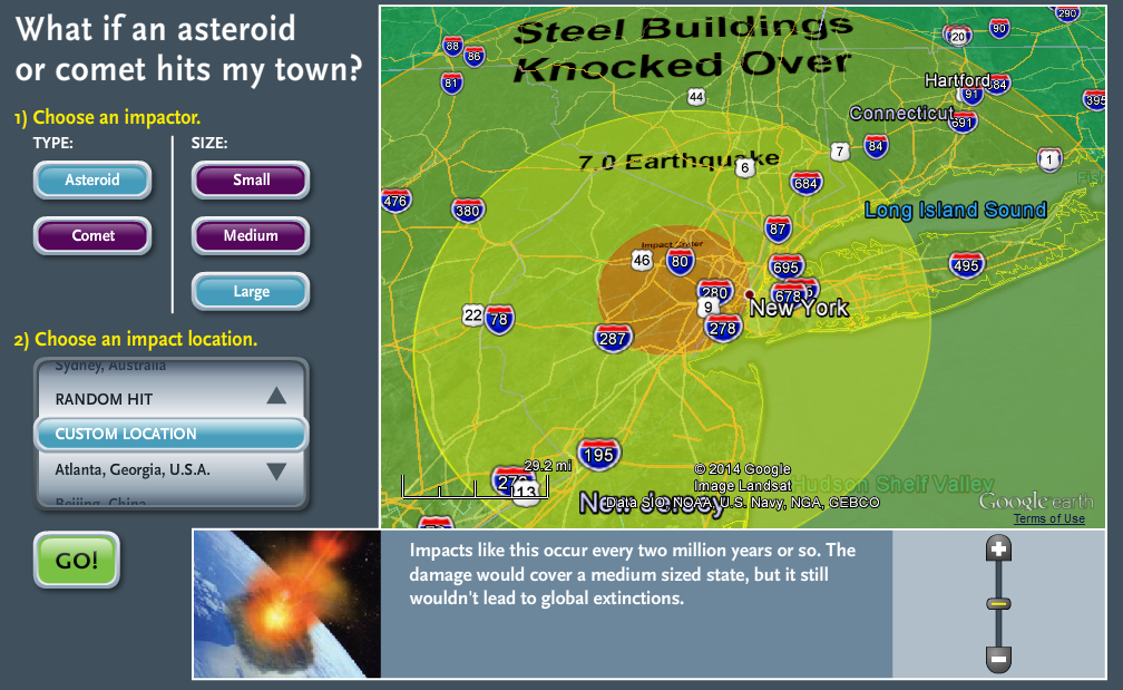 Asteroid Impact Calculator | Cos' Blog