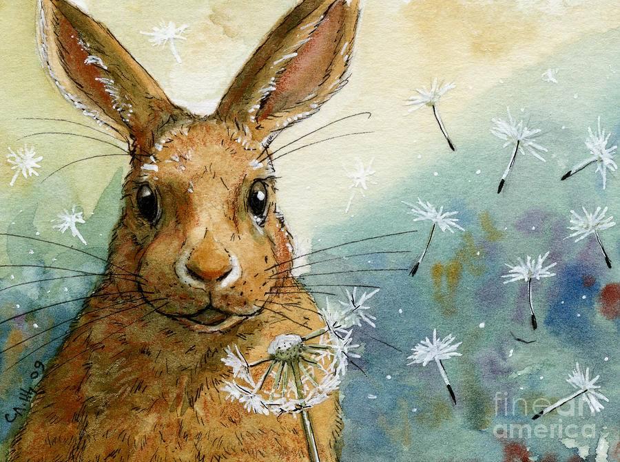 Bunny Painting by Svetlana Ledneva-Schukina