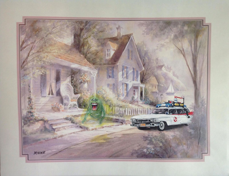 slimer and ghostbusters