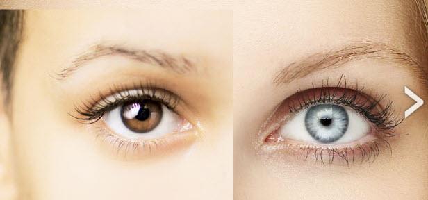 Brown to Blue Eyes